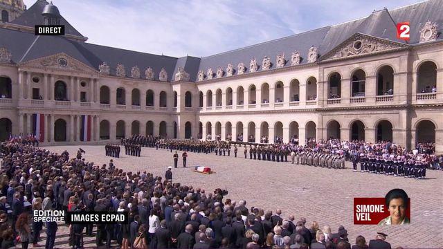 """VIDEO; """"J''ai décidé que Simone Veil reposerait avec son époux au Panthéon"""", annonce Emmanuel Macron"""