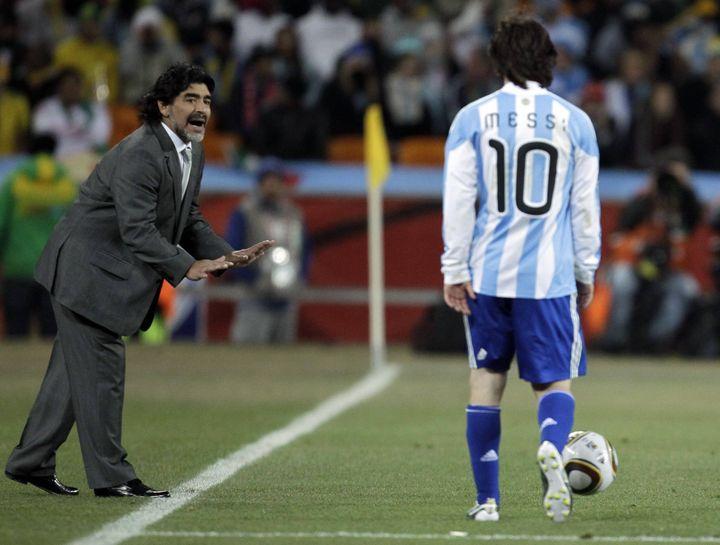 Lionel Messi, a las órdenes de Diego Maradona para los octavos de final del Mundial contra México.  (Matt Dunham / AFP / Siba / Siba)