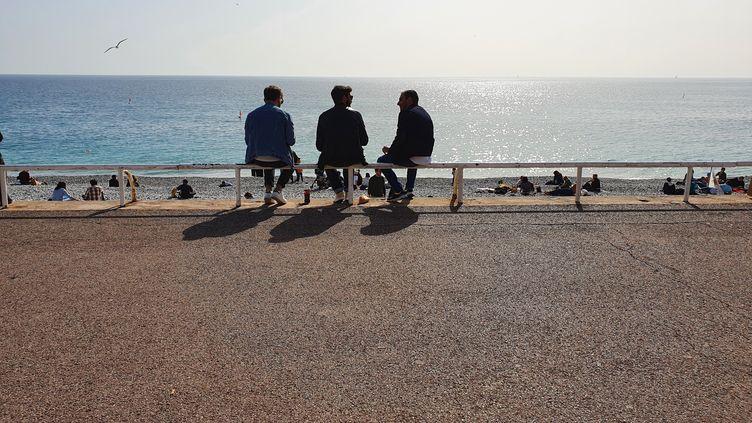 La promenade des Anglais, à Nice, le jeudi 25 février 2021. (MAUREEN SUIGNARD / RADIO FRANCE)