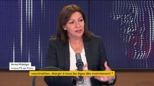 La maire de Paris était l'invitée de franceinfo mercredi 28 avril. (FRANCEINFO / RADIOFRANCE)