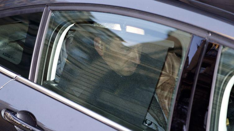 L'ex-président de l'UMP, Jean-François Copé, le 3 février 2015 à son arrivée au pôle financier, à Paris. (KENZO TRIBOUILLARD / AFP)