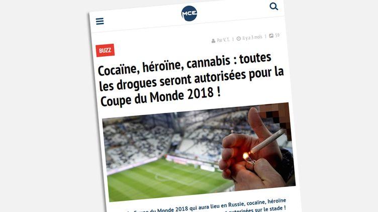 Non, les drogues ne seront pas autorisées dans les stades de la Coupe du monde 2018  (CAPTURE ECRAN  MCETV)