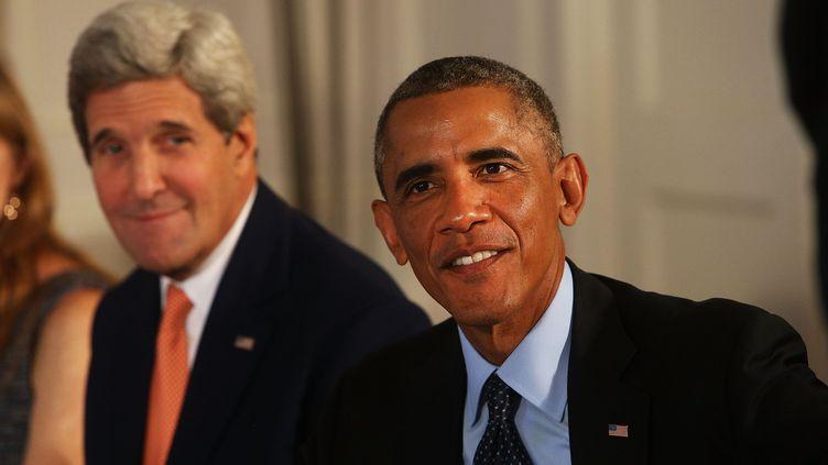 John Kerry et Barack Obama (SPENCER PLATT / DPA)