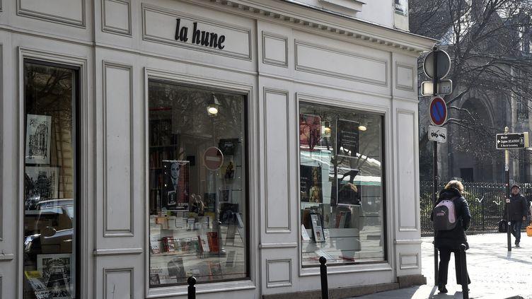 La librairie La Hune à Saint-Germain-des-Prés, en mars 2015
