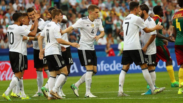 L'Allemagne est invaincue dans cette Coupe des Confédérations 2017. (CHRISTIAN CHARISIUS / DPA)
