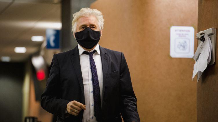 Gilbert Rozon comparaissait au palais de justice de Montréal (Québec, Canada) le 15 décembre 2020. (ANDREJ IVANOV / AFP)