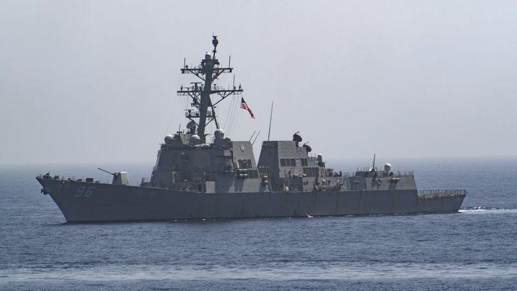 Un navire américain dans le golfe d'Oman, le 14 juin 2019. (MC3 LASHEBA JAMES / NAVY OFFICE OF INFORMATION / AFP)