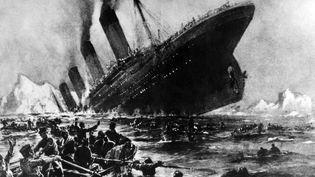 Illustration montrant le naufrage du Titanic, le 14 avril 1912, après avoir heurté un iceberg. (- / AFP)
