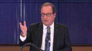 François Hollande, ancien président de la République, invité de franceinfo mercredi 28 octobre 2020.  (FRANCEINFO / RADIOFRANCE)