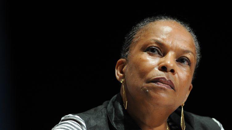La ministre de la Justice,Christiane Taubira, le 24 août 2013 à La Rochelle (Charente). (ALAIN JOCARD / AFP)