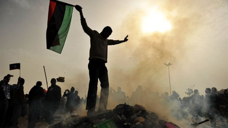 Benghazi, le 2 mars 2011 (AFP/ROBERTO SCHMIDT)