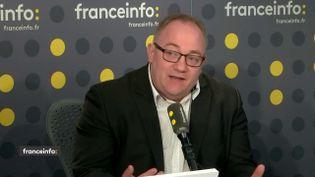 Stanislas Gaudon,porte-parole du syndicat Alliance, sur franceinfo, le 29 avril 2019. (FRANCEINFO)