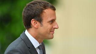 Le président de la République, Emmanuel Macron, le 31 juillet 2017 à l'Elysée, à Paris. (CITIZENSIDE/FRANCOIS PAULETTO / AFP)