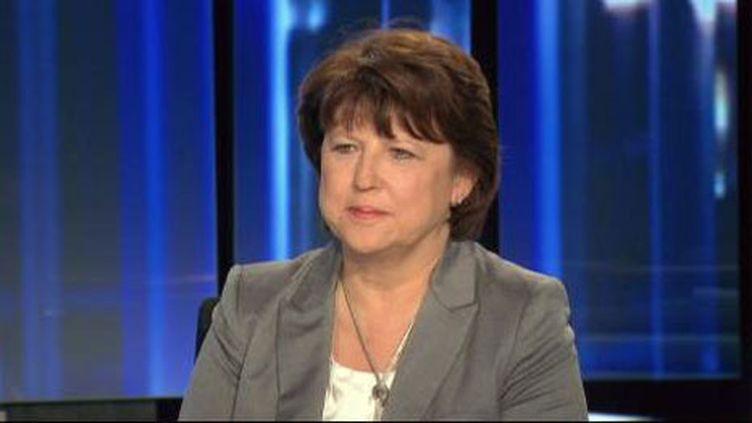 Martine Aubry au JT de 20h de France 2, le 4 avril 2011. (France 2)