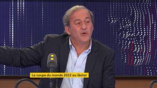 Michel Platini, sur franceinfo, mercredi 6 novembre 2019. (FRANCEINFO / RADIOFRANCE)