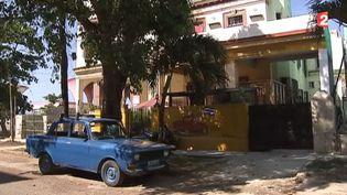La maison dans laquelle une française a ouvert une chambre d'hôtes, à Cuba, dans un reportage de France 2 diffusé lundi 11 mai 2015. ( FRANCE 2)