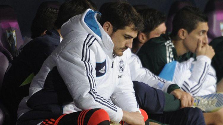 Iker Casillas sur le banc du Real (PEDRO ARMESTRE / AFP)