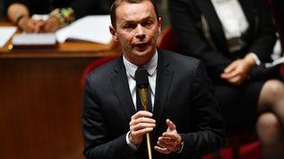 Le ministre délégué aux Comptes publics Olivier Dussopt, le 8 juillet 2020 à l'Assemblée nationale. (CHRISTOPHE ARCHAMBAULT / AFP)