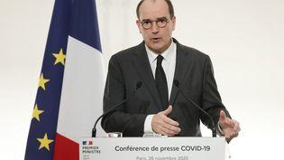 Le Premier ministre Jean Castex à Paris, le 26 novembre 2020. (LUDOVIC MARIN / AFP)