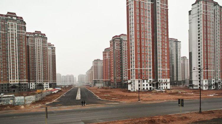 La ville de Ordos en Chine attend toujours son million d'habitants. (DR)