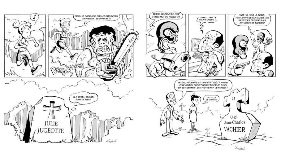 """""""Et pis taf !"""", la bande dessinée de l'auteur rochelais Lamisseb qui s'amuse de la mort"""