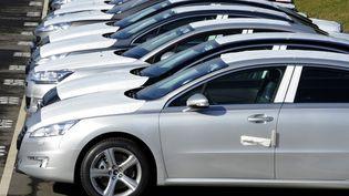 Des voitures de la marque PSA à Rennes (Ille-et-Vilaine), le 17 février 2011. (DAMIEN MEYER / AFP)