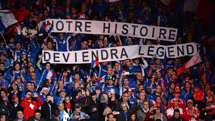 Le clan tricolore, à Lille (DENIS CHARLET / AFP)