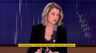 Barbara Pompili, ministre de la Transition écologique, sur franceinfo le 23 novembre 2020. (FRANCEINFO / RADIOFRANCE)