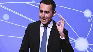 Luigi Di Maio, le leader du Mouvement 5 étoiles et vice-président du Conseil italien, à Rome, le 22 janvier 2019. (VINCENZO PINTO / AFP)