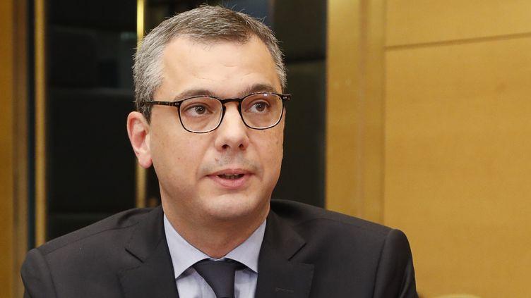 Le secrétaire général de l'Elysée, Alexis Kohler, auditionné au Sénat sur l'affaire Benalla, le 26 juillet 2018. (FRANCOIS GUILLOT / AFP)