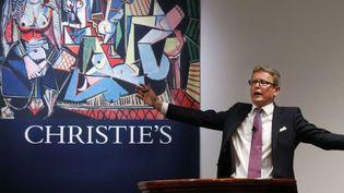 """Vente des """"femmes d'Alger"""" de Picasso chez Christie's à New York (11 mai 2015)  (Kathy Willens / AP / SIPA)"""