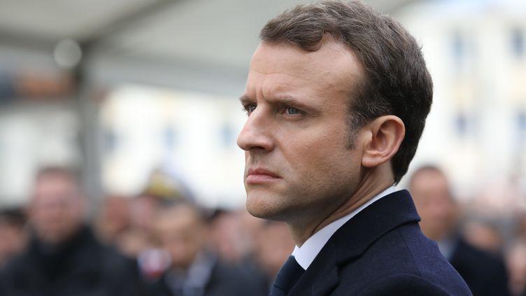Emmanuel Macron, le 6 février 2018, à Ajaccio (Corse-du-Sud). (LUDOVIC MARIN / AFP)