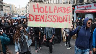Manifestation contre la Loi Travail à Marseille (Bouches-du-Rhône), le 28 avril 2016. (MAXPPP)