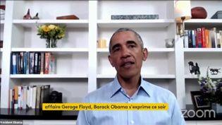 Barack Obama sur sa chaîne YouTube (FRANCEINFO)