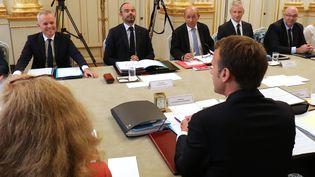 Le Conseil des ministres le 4 septembre 2018. (LUDOVIC MARIN / POOL)