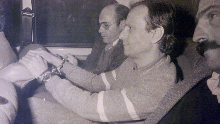 Gaëtan Zampa lors de son arrestation le 28 novembre 1983  (BEP/LA PROVENCE)