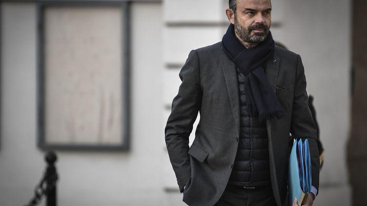 Edouard Philippe, Premier ministre, arrive à Matignon, à Paris, le 14 décembre 2018. (STEPHANE DE SAKUTIN / AFP)