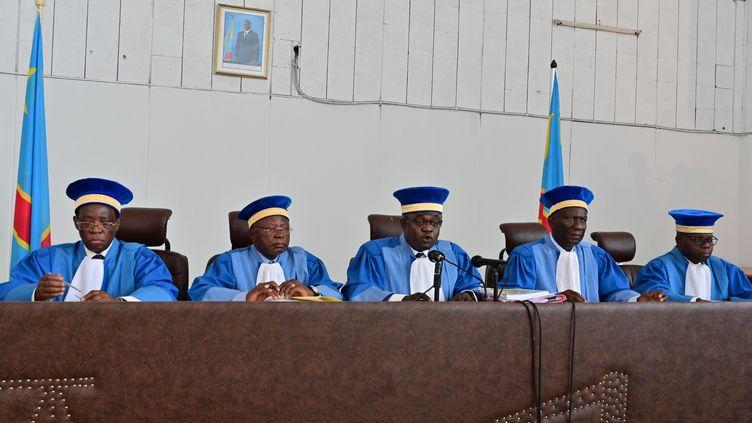 La Cour constitutionnelle de la République démocratique du Congo, le 15 janvier 2019 à Kinshasa. (TONY KARUMBA / AFP)