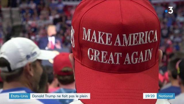États-Unis : en meeting, Donald Trump ne fait pas le plein de public