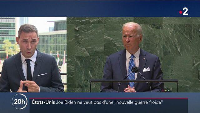"""États-Unis : à l'ONU, Joe Biden affirme ne pas vouloir de """"guerre froide"""" avec la Chine"""