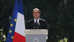François Hollande, le 15 octobre 2016 à Nice (Alpes-Maritimes), lors de l'hommage aux victimes de l'attentat du 14 juillet. (MAXPPP)