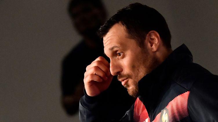 Lionel Beauxis pourrait débuter à l'ouverture face à l'Ecosse ce dimanche.  (CHRISTOPHE SIMON / AFP)