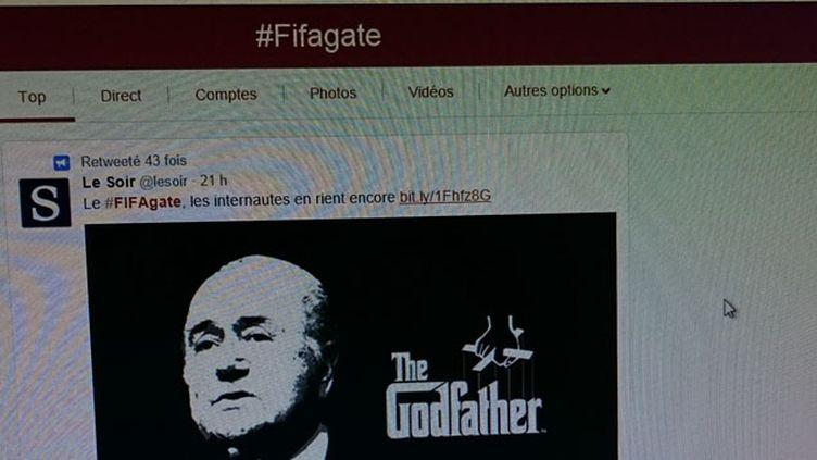 """(Le président de la Fifa Sepp Blatter détourné en """"Parrain"""" ©)"""