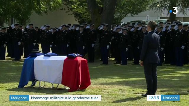 Mérignac : un hommage militaire a été rendu à la gendarme tuée