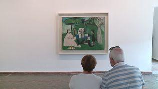 Neuf toiles de Picasso issues de la collection Nahmadsont exposées au musée Picasso d'Antibes. (CAPTURE D'ÉCRAN FRANCE 3)