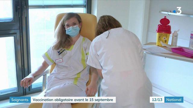 Personnel soignant : la vaccination avant le 15 septembre