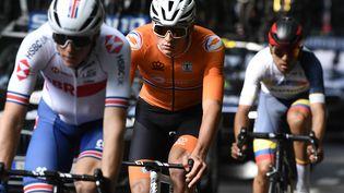 Mathieu van der Poel sera un coureur surveillé dimanche 26 septembre lors des championnats du monde. (KRISTOF RAMON / POOL)