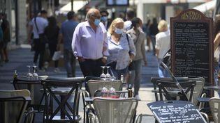 Un restaurant à Nice le 2 juin 2020 après le confinement. . (FRANTZ BOUTON / MAXPPP)