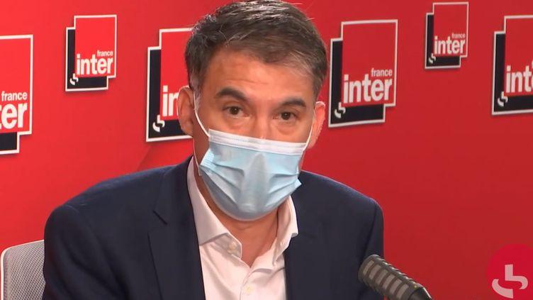 Olivier Faure, premier secrétaire du Parti socialiste, député PS de Seine-et-Marne, sur France Inter, le 21 juin 2021. (FRANCEINTER / RADIO FRANCE)