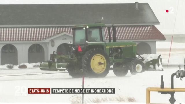 États-Unis : tempête de neige et inondations